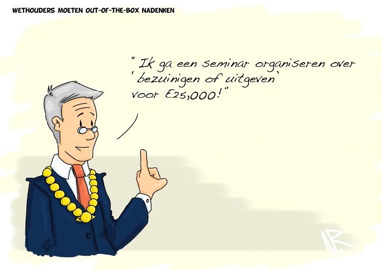 Cartoon april - wethouders 750x530